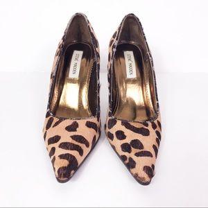 Steve Madden Leopard Calf Hair Pointed Toe Heels